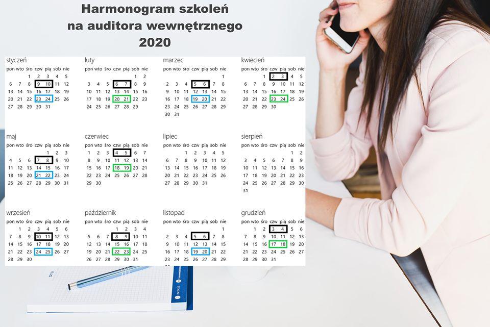 Kalendarz szkoleń na auditora wewnętrznego ISO 9001